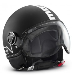 Casco Momo Design Fighter nero opaco e bianco