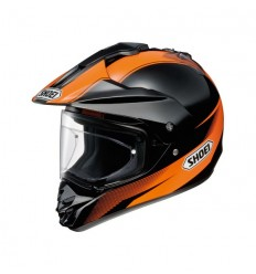 Casco Shoei enduro Hornet DS Sonora TC8 nero e arancio